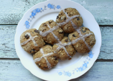 Hot cross buns špaldové